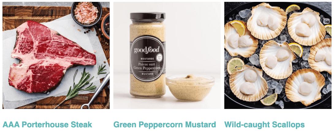 AAA Porterhouse Steak, Green Peppercorn Mustard, Wild-caught Scallops