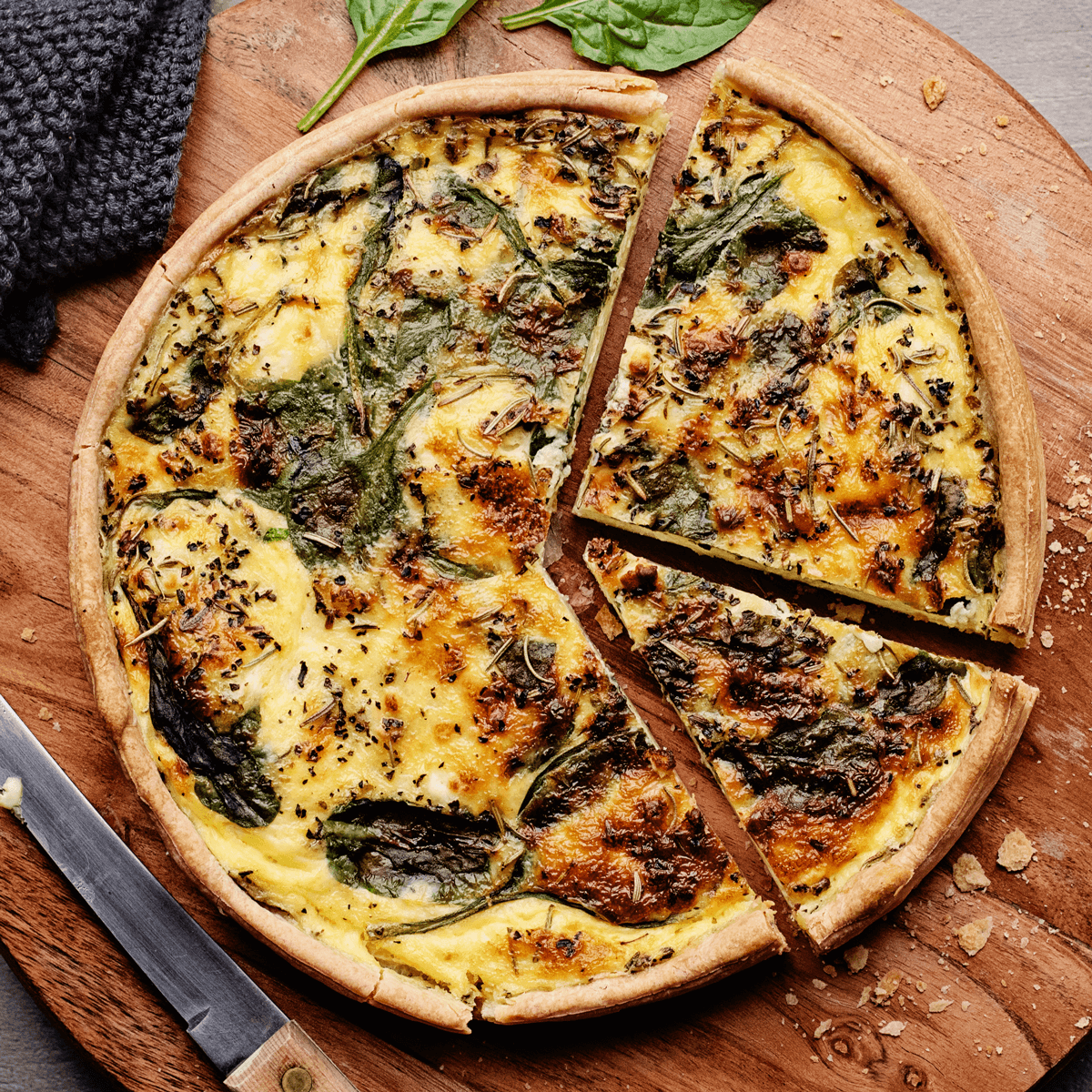 Spinach quiche from Goodfood