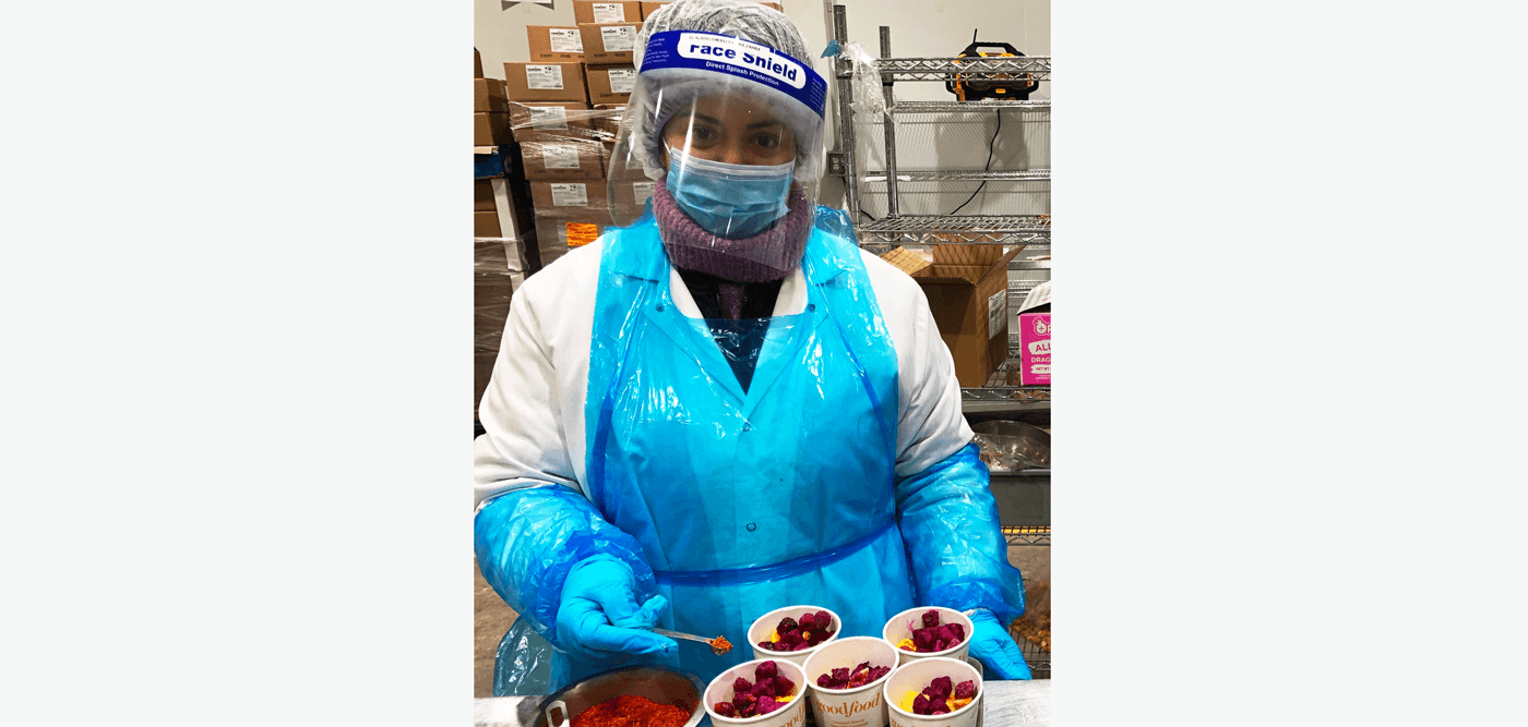 Goodfood production worker in safety gear