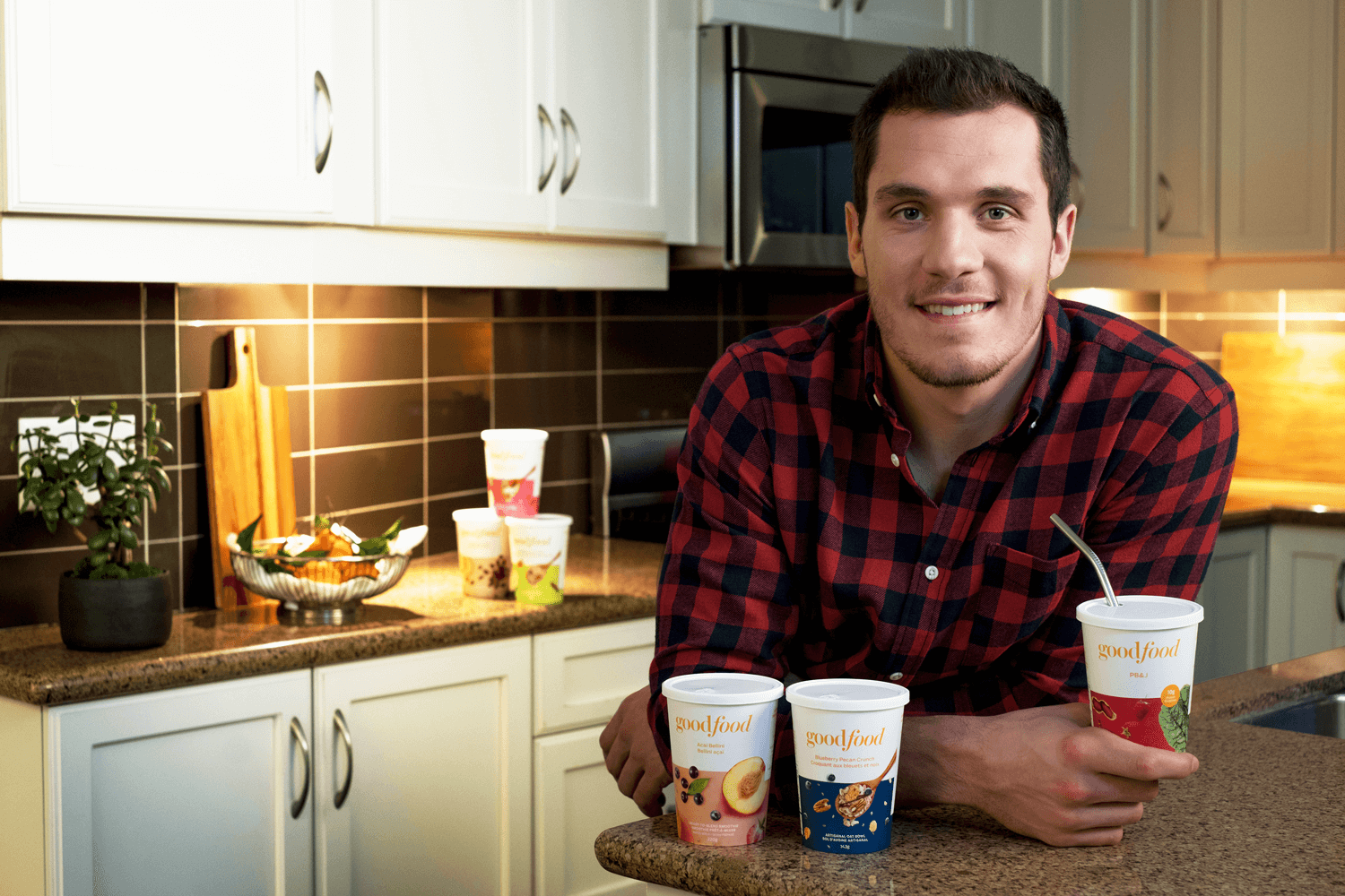 Bo Horvat with Goodfood smoothies