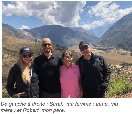 Jonathan Ferrari et famille