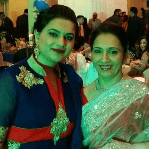 Bulbul Arora and her mother
