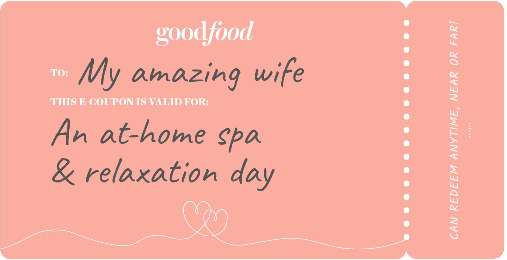 Coupon example, relaxation day