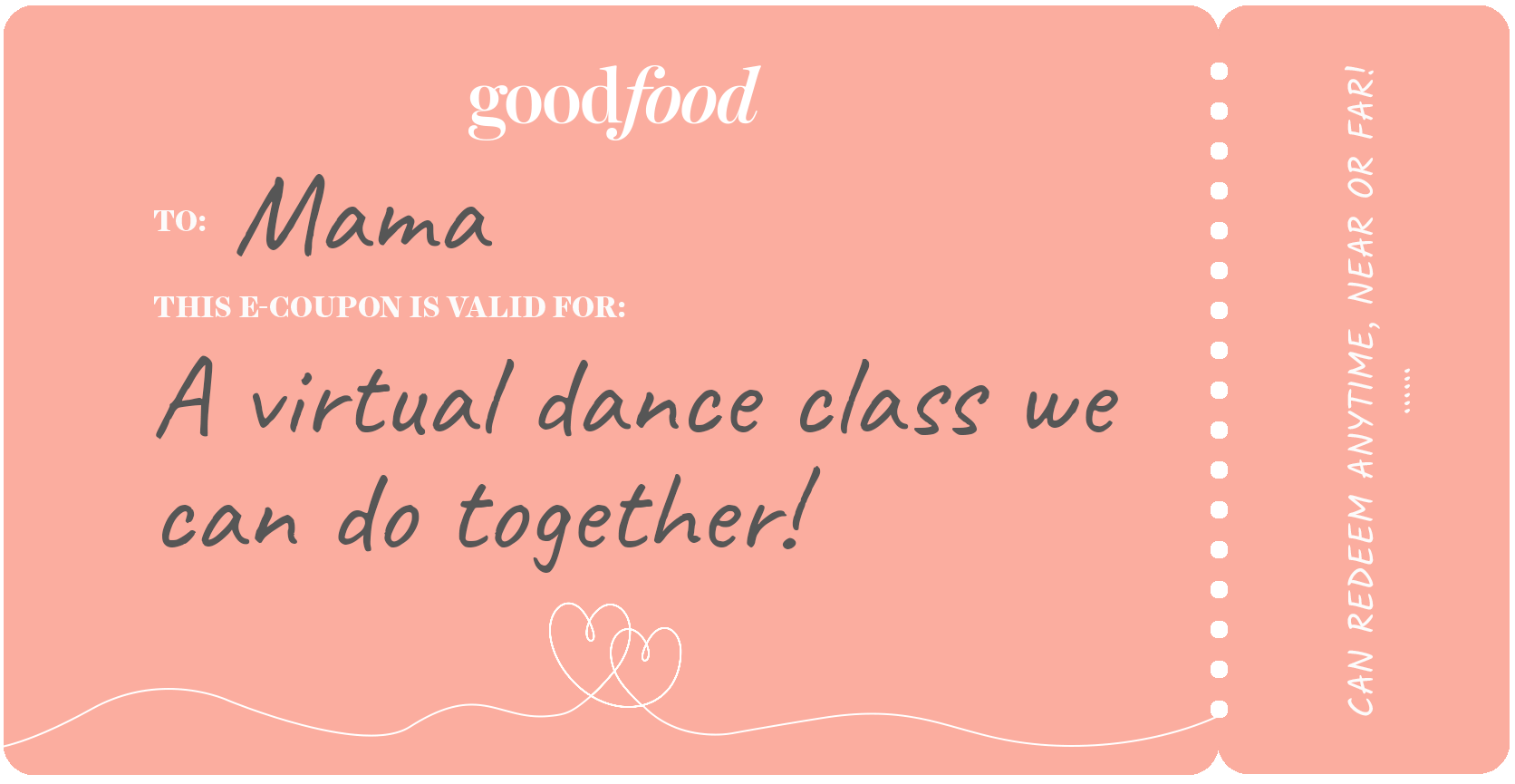 Coupon example, dance class
