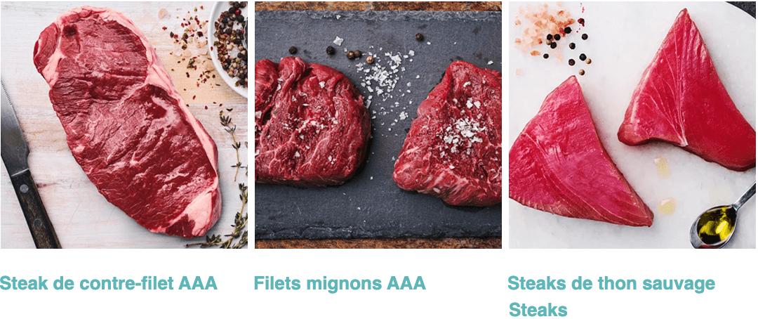 steaks et thon