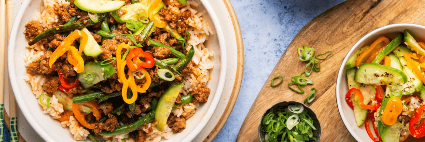 Vietnamese-Style Caramelized Pork Bowls over Jasmine Rice and Quick-Pickled Vegetables
