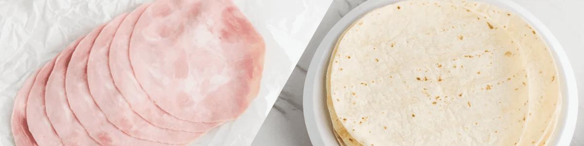 Des roulés jambon et fromage pour la collation