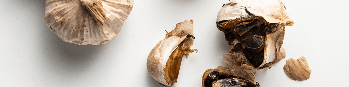 Bulbs of black garlic
