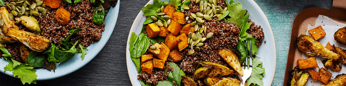 Thanksgiving Buddha Bowls with Almond-Maple Sauce Cranberry Quinoa and Roasted Vegetables