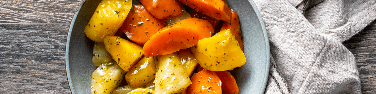 Ready-to-eat ginger heirloom carrots from Goodfood