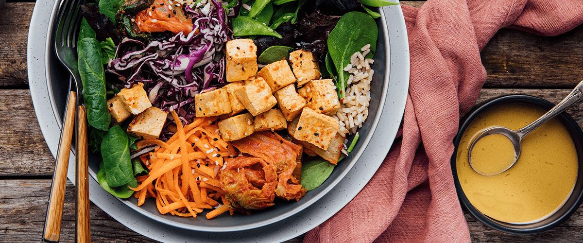 Image of Goodfood ready-to-eat Seoul tofu bowl