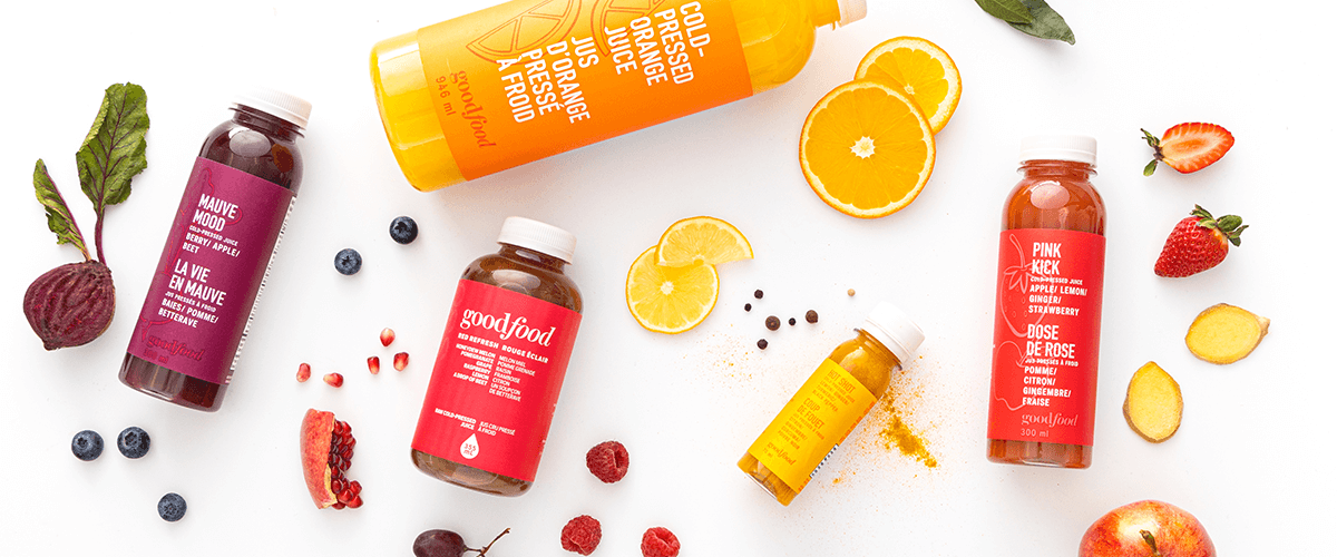 Image of Goodfood Cold-Pressed Juices with Fresh Fruits