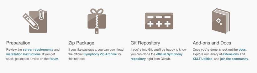 Symphony CMS Download Links