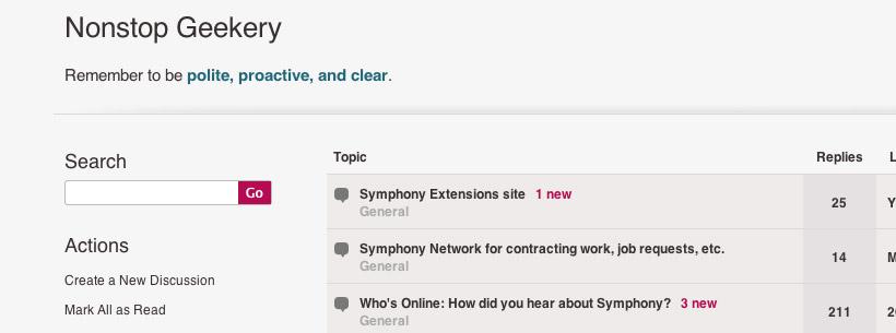 Symphony CMS Forums