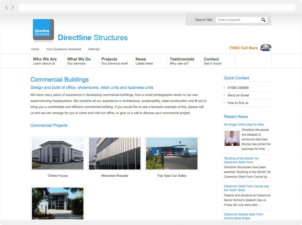 Directline Structures commercial