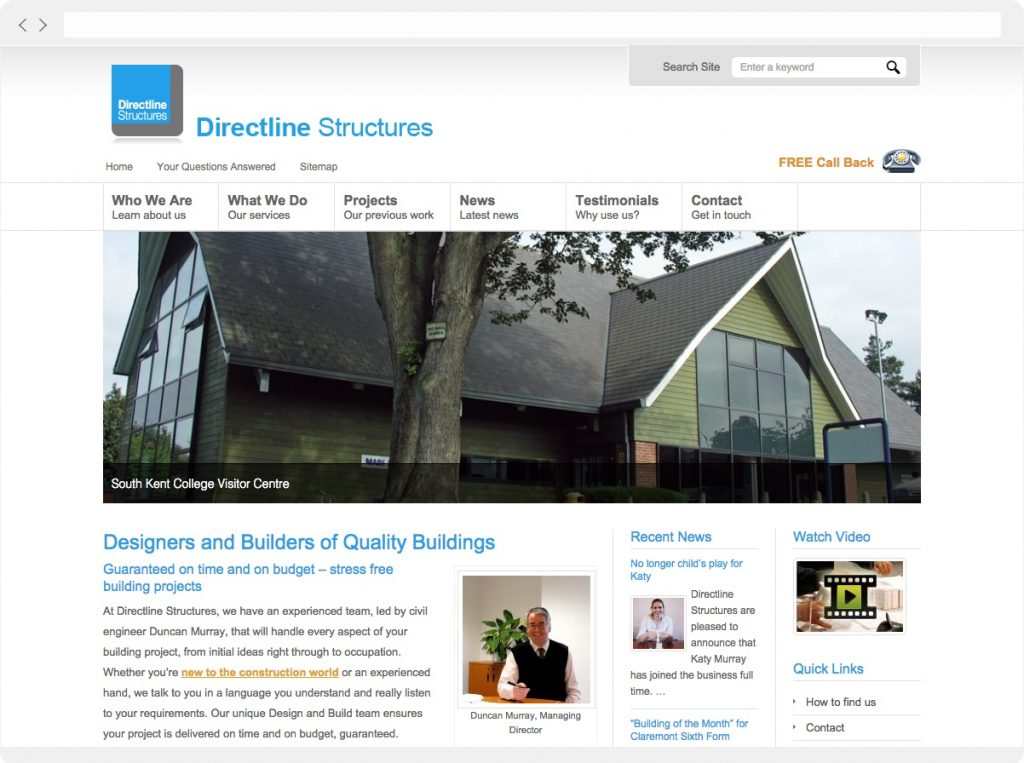 Directline Structures home page