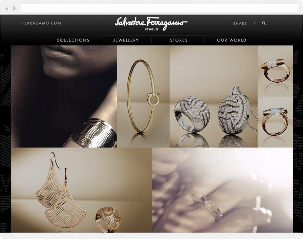 Ferragamo Jewels homepage