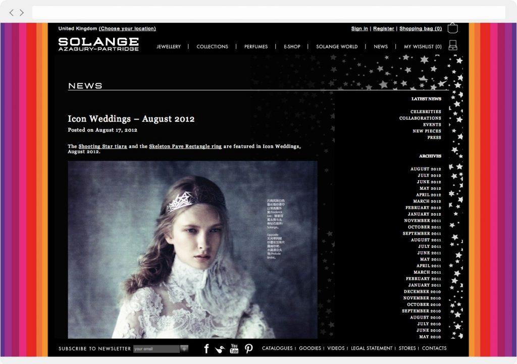 Solange blog design