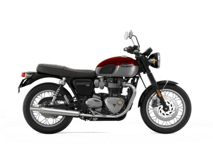 2022 Triumph Bonneville T120 Cordovan Red/Silver Ice
