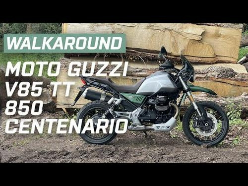 Moto Guzzi V85 TT Centenario 850 2021 Walkaround | Engine Sound | Visordown.com