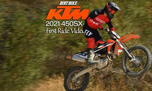 2021 KTM 450SX-F FIRST RIDE VIDEO