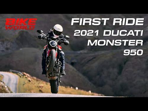 2021 Ducati Monster 950 First Ride UK (4K)