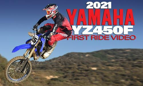 2021 YAMAHA YZ450F, FIRST RIDE VIDEO