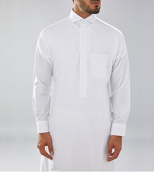 White Fashion Thobe