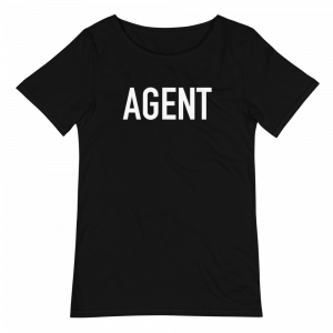 agent raw edge graphic t-shirt
