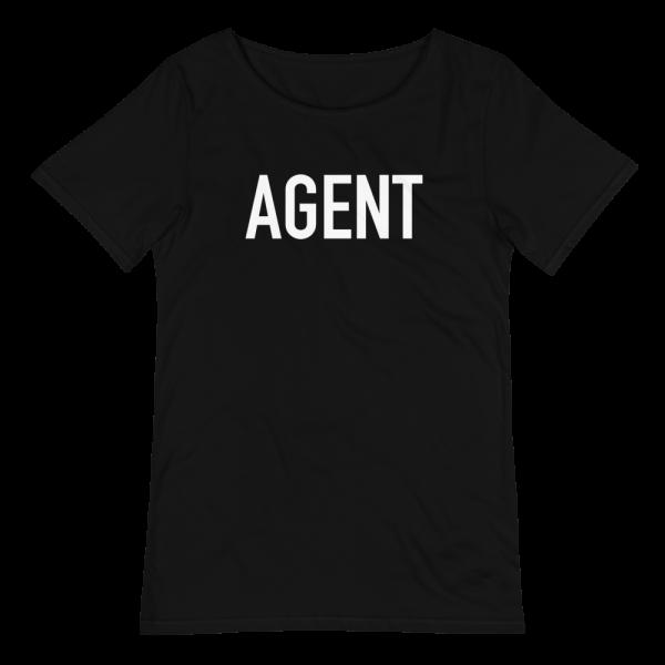 agent raw edge graphic t-shirt