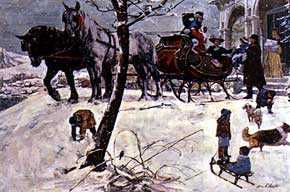 William A. Smith (1918-1989), <em>Christmas</em>. Illustration. Private collection.
