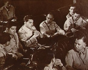 Jerome Chodorov (second from left), 1940s. Image courtesy of Rhea and Jerome Chodorov.