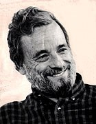 Stephen Sondheim. Photograph by Michael Le Poer Trench. Image courtesy of George School, Newtown, PA.