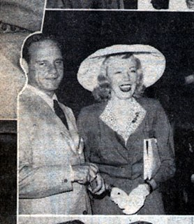 Jack Kirkland and Haila Stoddard at the Opening of the Bucks County Playhouse, 1941. <em>Sunday Call-Chronicle.</em> Courtesy of the Spruance Collection of the Bucks County Historical Society.