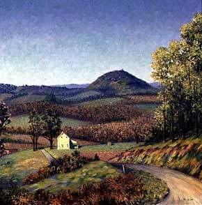 Richard Wedderspoon (1889-1976), <em>Bowman's Hill</em>, c. 1960. Oil on canvas. Image courtesy of Reginald J. Birks.