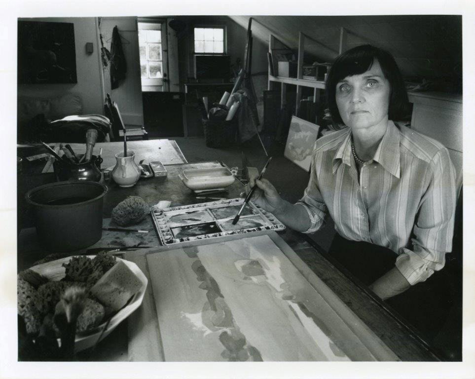 <p>Bruce Katsiff, <em>Barbara Osterman</em>, n.d. Silver gelatin print. James A. Michener Art Museum.</p>