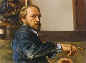 Nelson Shanks (1937-2015), <em>A Self Portrait</em>. Oil on canvas. Image courtesy of the artist.