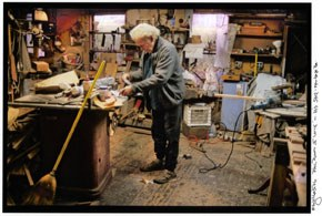 H. Scott Heist (b. 1949), Phill Powell in his Workshop, New Hope, PA, 2006. Color matte giclee print, 2006. James A. Michener Art Museum.
