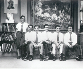 Six Martino brothers, shown left to right: Edward, Albert, Giovanni, Antonio, William, and Ernest. Image courtesty of Babette Martino.