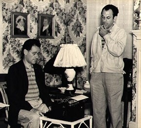George S. Kaufman and Moss Hart. Photograph by Maynard Clark. Michener Art Museum. Gift of Philip A. and Dianna T. Betsch.