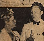 Photograph of The Haenigsens, Bucks County Playhouse, 1941. <em>Sunday Call-Chronicle</em>, 1941. Image courtesy of the Spruance Collection of the Bucks County Historical Society.