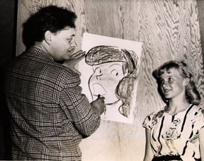 Photograph of Harry Haenigsen by Maynard Clark. James A. Michener Art Museum. Gift of Philip A. and Dianna T. Betsch.
