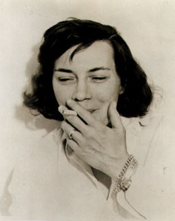 Publicity photograph of Patricia Highsmith, c. 1962. Harper & Brothers, Deep Water.