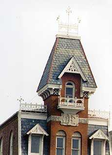 Addison Hutton, Bucks County <em>Intelligencer</em> Building, co-designed with Thomas Cernea, 1876. Photograph by Jeffery L. Marshall. Image courtesy of Jeffery L. Marshall, Historic Preservation Program, Bucks County Community College.