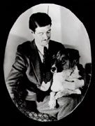 <p>Photograph of Eric Knight with his dog Toots. Image courtesy of Geoff Gehman.</p>