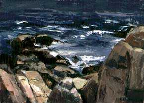 <p>Sigmund Kozlow (1913-1990),<em> Cathedral Rocks</em>, 1969. Oil. Image courtesy of the Kozlow and Agiesta Families.</p>