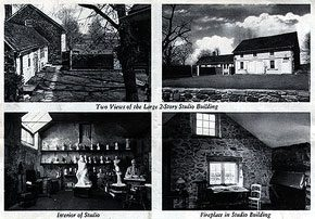 Jo Davidson's Bucks County Home. Image courtesy of the Spruance Collection of the Bucks County Historical Society.