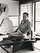 George Nakashima in his studio. Photograph by Jack Rosen. Courtesy of the James A. Michener Art Museum.