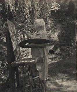 M. Elizabeth Price painting in the