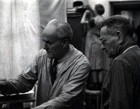 Harold Bowler teaching at the Art Student's League. New York, New York, 1963.